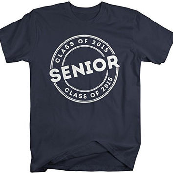 Shirts By Sarah Men's 2015 Senior Class T-Shirt Circle Badge Personalized Shirts