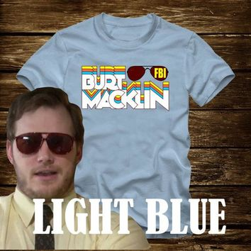 On Sale - BURT MACKLIN FBI retro T-shirt from Parks and Recreation- Adult sizes -Tv Chris Pratt Andy Dwyer mouse rat scarecrow boat rec bert