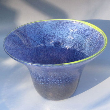 Hand blown glass bowl lavender blue holiday gift by HorkoverGlass