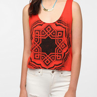 Title Unknown Boho Overspray Tank Top