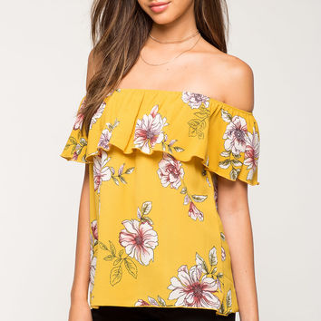 Lily Floral Off Shoulder Top