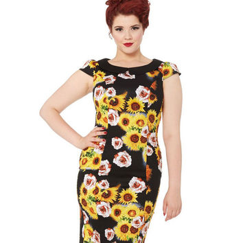 Nahla Sunflower Rose Dress