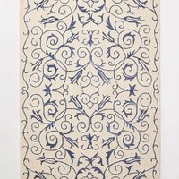 Hand-Hooked Capri Rug by Anthropologie Blue