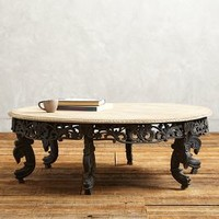 Villa Coffee Table by Anthropologie in Carbon Size: