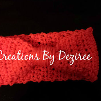 Handmade Coral Colored Headwrap! Perfect for christmas!!