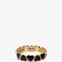 Lacquered Hearts Stretch Bracelet