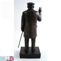Winston Churchill - Victory Sign Dec 1941 (Traditional Bronze) , Bronze , Busts & Statues