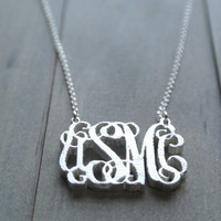 United States Marine Corps monogram necklace ||hobbyist #21409||