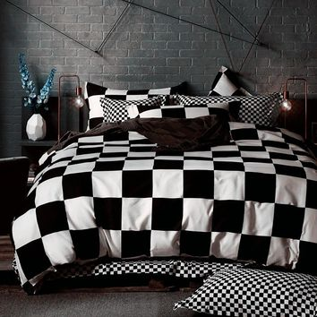 Black White Bedding sets King Queen Duvet Quilt cover set Linens Russia USA Size,Bedroom Bedding Home Textiles