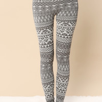 Snow Flake Fleece Legging