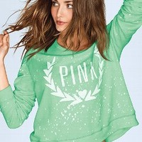 Wide Neck Crew - PINK - Victoria's Secret
