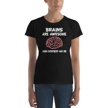 Brains are Awesome Premium Women's T-Shirt