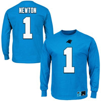 Cam Newton Carolina Panthers Eligible Receiver II Long Sleeve T-Shirt – Panther Blue