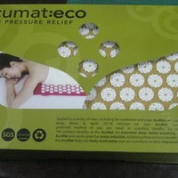 Original Acupressure Mat in a Unique Gift Box (PINK organic cotton spike acumat with cotton carry ba