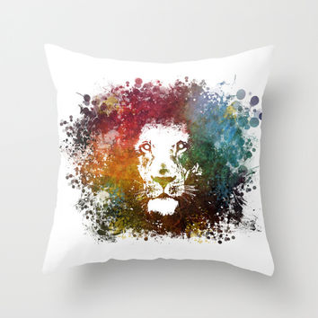 Lion King Throw Pillow by Jbjart