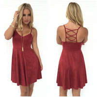 Gamble With Desire Dress in Burgundy