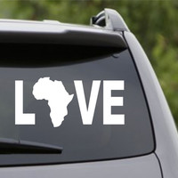 Africa Love car decal window sticker laptop