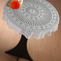 Trendy CROCHET TABLE CLOTH - Handmade Crochet - Home and Wedding Decor - Crochet Table Linen