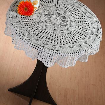 Trendy CROCHET TABLE CLOTH   Handmade Crochet   Home And Wedding Decor    Crochet Table Linen