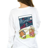 Lauren James Fourth and Goal Long Sleeve Tee in White