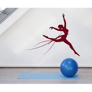 Vinyl Wall Decal Gymnastics Gymnast Girl Sport Stickers (2328ig)