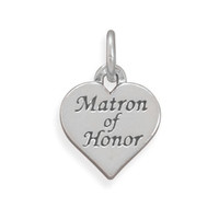Sterling Silver Matron of Honor Charm