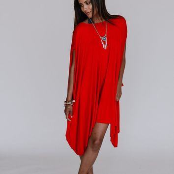 The Wren Oversized Tunic Top - Rust