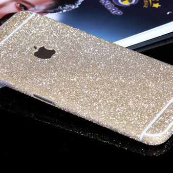 Champagne Sparkle Glitter Decal Wrap Skin Set iPhone 6s 6 / iPhone 6s 6 Plus