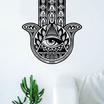 Hamsa Hand V15 Decal Sticker Wall Vinyl Decor Art Living Room Bedroom Yoga Mandala Spirit Namaste Design
