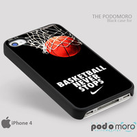 Nike Basketball Never Stop for iPhone 4/4S, iPhone 5/5S, iPhone 5c, iPhone 6, iPhone 6 Plus, iPod 4, iPod 5, Samsung Galaxy S3, Galaxy S4, Galaxy S5, Galaxy S6, Samsung Galaxy Note 3, Galaxy Note 4, Phone Case