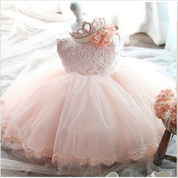 High Quality Baby Girl Dress Baptism Dress for Girl Infant 1 Year Birthday Dress for Baby Girl Chirstening Dress for Infant G664
