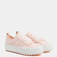 Pink platform sneakers - SHOES - Bershka United States