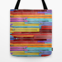 Zippers! Tote Bag by Raven Jumpo