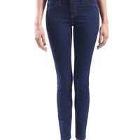 LE3NO Womens Premium Basic Skinny Denim Jean Pants (CLEARANCE)