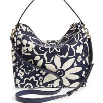 Kate Spade New York Small Haven Floral Canvas Shoulder Bag