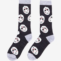 Friday The 13th Jason Mask Crew Socks