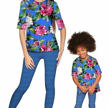 Aquarelle Sophia Elbow Sleeve Party Top - Mommy &