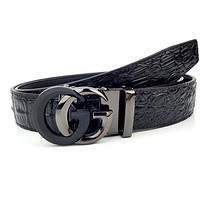 GUCCI New Alligator Belt with Double G Buckle