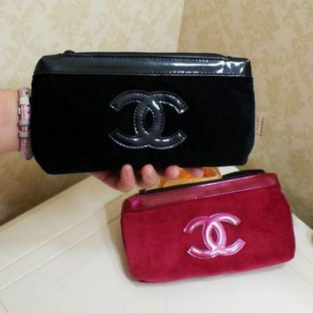 VONE055 Chanel Fashion Women Waterproof Oxford Cloth Bag Large Cosmetic Bag