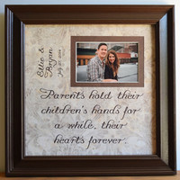 Father of the Groom Gift, Father of the Bride Gift, Father of the Bride, Father of the Groom, Dad Picture Frame, Father Daughter Gift, 15x15