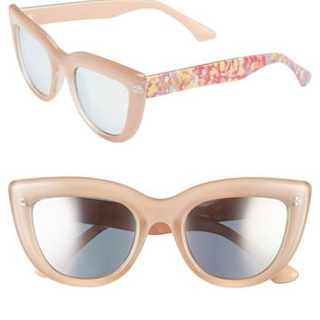Women's Isaac Mizrahi New York 50mm Cat Eye Sunglasses
