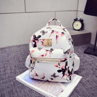 2016-Women-Floral-Backpack-Leather-Satchel-Rucksack-Travel-Laptop-Shoulder-Bag