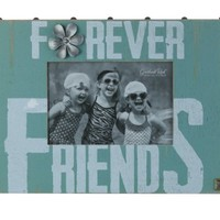 Wooden Forever Friends Friendship Picture Photo Frame and Holds a 4x6 Photo