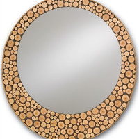 Elkmont Mirror, Round design by Currey & Company
