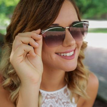 Afternoon Glow Sunglasses - Silver