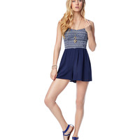Aeropostale  Womens Knit To Woven Romper