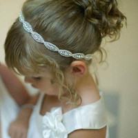 New Baby Girl headbands Rhinestone Combination Headbands for girls Infant hair band Girls Wedding Party Headwear kids Birthday gift White