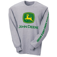 John Deere Grey Trademark Tee Shirt