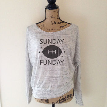 Sunday Funday Football Shirt - Football Tee - Sports Football Game Day Shirts - Fun Day College Professional Sports Team - Tees