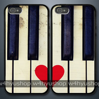Love Piano iPhone 5 4/4S Samsung Galaxy S3 Couple Hard Plastic Cases